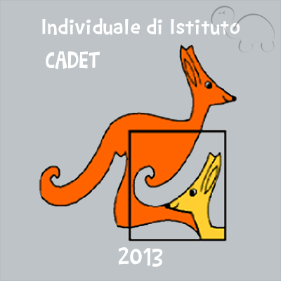 Gara individuale d'istituto - categoria Cadet 2013