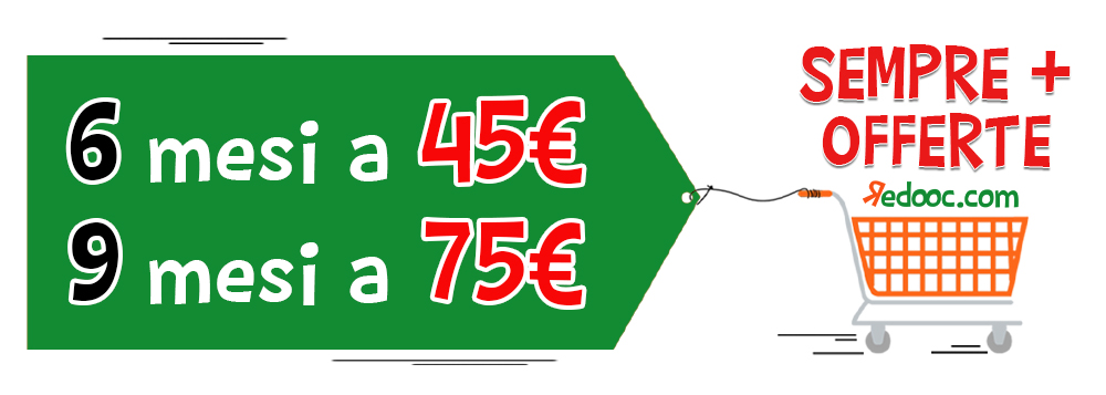 Offerte 6 mesi a 45 euro